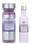 The Healing Garden Tender Lavender Gift Bundle - Mineral Bath Soak 280ml and Whipped Body Lotion 190ml