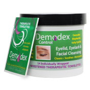Demodex Control Therapeutic Towelettes for Face, Eyelids, Eyelashes