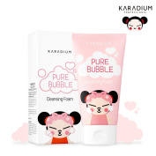 [KARADIUM] PUCCA LOVE EDITION Pure Bubble Cleansing Foam 150g / Flower Scent Creamy Bubble Deep Cleansing Foam