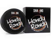 Best Men's Pre-Shave Scrub – Shaving Station Howdy Rowdy Pre-Shave Scrub – Pure Vetiver & Cedarwood Essential Oils – No Sulphates No Parabens –