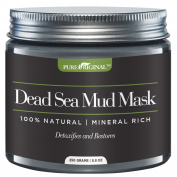 Pure Originals Dead Sea Mud Mask for Face, Body & Hair 260ml 100% Natural and Organic Deep Skin Cleanser