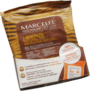 Marcelle I-Bronze Natural Tan 15 Face or Body Self-Tanning Cloths and Bonus 15 Cleansing + Exfoliating Cloths
