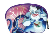 Soho Disney Villains Collection Cosmetic Round Top Bag, The Little Mermaid & Ursula