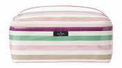 Kate Spade New York St. Elmo Stripe Large Colin Cosmetic Makeup Case Purple Multi