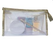 LOUISE MAELYS Waterproof Travel Bags Clear Cosmetic Bag PVC Toiletry Case Organiser