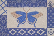 Jellybean Azure Butterfly Accent Area Rug by Jellybean