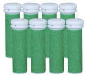 Replacement Refill Rollers for Emjoi Micro-pedi (Xtreme Coarse) - Pack of 8