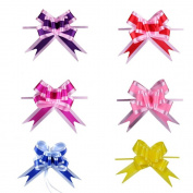 Gift Pull Ribbon Bows. This Beautiful, Plastic Set Of 30 Wide Bow-knots Great For Decorating Gifts, Christmas Boxes, Trees, Wreaths, Parties, Weddings, X-mas. Indoor & Outdoor Decor.
