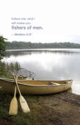 """""""Fishers of Men"""" Matthew 4:19 Church Bulletin with Perforated Tear-Off Panel - Legal Size 20cm - 1.3cm x 36cm"""