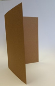 Cranberry Card Company A5 Kraft Recycled Creased Card Blanks - 50 Pack