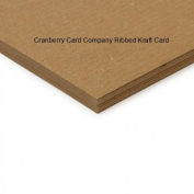 Cranberry Card Company Kraft Ribbed Card/Paper 150Gsm