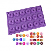 New Arrival 18-Cavity Mini Silicone Donut Doughnut Baking Mould Mould for Cake, Chocolate, Cookie, Candy and More
