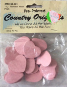Pre-Painted Wood Shapes - Hearts in Pink 16/Pkg
