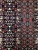 Kaleidoscope Geometric Print on Stretch Lightweight ITY Knit Jersey Polyester Spandex Fabric by the Yard