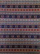 Navy & Brown Tribal Print on Stretch Lightweight ITY Knit Jersey Polyester Spandex Fabric by the Yard