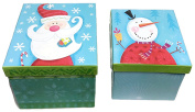 Mini Christmas Theme Gift Box ~ 2 Different Size Boxes