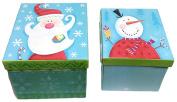 Mini Christmas Theme Gift Box ~ 2 Different Size Boxes