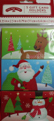 3 Gift Card Holders Christmas Money Container
