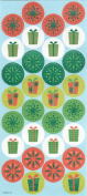 Decorative Round Christmas Seals - Set of 60