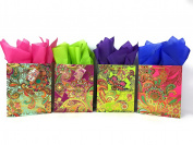Colourful Gift Bags + Tissue Paper with Foil Accents