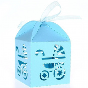 UEETEK 50pcs Carriage Pattern Paper Candy Sweets Gift Boxes Baby Shower Favours