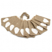 FENICAL 10pcs Wedding Party Favour Bag Gift Bag Candy Bag Vintage Jute Burlap Bag