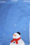 Fabric Git Bag ~ Blue Snowman ~ Large