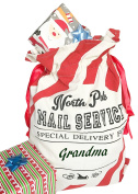 Tree Buddees North Pole Mail Service Personalizable Christmas Gift Bag
