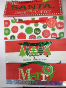 New Style Christmas XMAS HORIZONTAL Wine Liquor Bottle Gift Bags, 6-Pack, Assorted Designs, 36cm x 13cm x 7.6cm