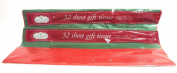 Tim A Home 64 Sheets Gift Wrap Tissue Paper Red & Green