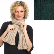 Baby Alpaca Grande yarn Ruffled Scarf Knit Kit - FOREST GREEN