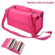 NIUTOP 80 Slots Marker Pen Case Markers Carrying Bag Holder for Primascolor Marker and Copic Sketch Marker, Permanent Paint Marker, Dry Erase Marker, Repair Marker Pen, Colour Highlighter