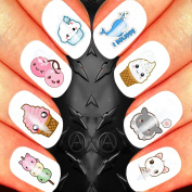 SANTA SLEIGH CLASSIC CHRISTMAS NAIL ART SET STICKERS DECALS WATER TRANSFERS. USE WITH NATURAL GEL ACRYLIC