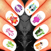 CUTE SKULL ASSORTMENT 1 NAIL ART SET STICKERS DECALS WATER TRANSFERS. USE WITH NATURAL GEL ACRYLIC