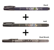 Tombow Fudenosuke Fude Brush Pen / Soft & Hard & Twin Tips / Value set