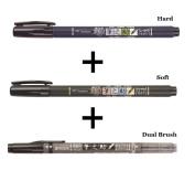 Tombow Fudenosuke Fude Brush Pen / Soft & Hard & Twin Tips / Value set