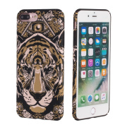 iPhone 7 Case, BEW Slim Protective Case with 3D Relief Tiger Glowing in the Dark