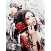 Whitelotous Sexy Girl DIY Digital Canvas Oil Painting Paint by Number Kit Home Wall Art Decor 30 x 40 cm