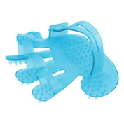 FOREVER YUNG Adjustable Palm Belt Sky Blue Plastic Fitness Head Massage Glove Brush by FOREVER YUNG