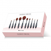 Mackertop Gift colour box Professional 10 Pcs Soft Oval Toothbrush makeup brushes Sets Foundation Brushes Cream Contour Powder Blush Concealer Brush Makeup Cosmetics Tool Set