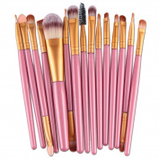 WinnerEco Makeup brushes, 15pcs Cosmetic Tool Brush Set Foundation Blushes for Face EyeShadow Eyeliner Lip Powder Liquid Cream