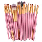 WinnerEco Makeup brushes, 15pcs Cosmetic Tool Brush Set Foundation Blushes for Face EyeShadow Eyeliner Lip Powder Liquid Cream