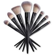 Ucanbe Premium Synthetic Hair Makeup Brush Set Luxury 8pcs Professional Blush Powder Eye shadow Foundation Contour Makeup Brush Set
