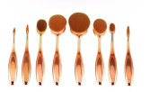 GAMT 10-Piece Professional Soft Oval Toothbrush Makeup Brush Set