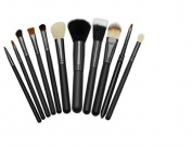 GAMT 12 Pcs Of Wool Make-up Sets Sf Makeup Brush Tube No Logo Black