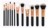 GAMT Set with 12 Piece Makeup Brush Cosmetic Set Kit with Case Rose gold