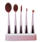 GAMT 5 Pcs Toothbrush Makeup Brush Set With Brush Holder Makeup brush White