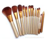 GAMT 12 Pcs Cosmetic Brush Makeup Brush Sets Kits Tools Gold