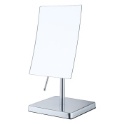 ALHAKIN 3X Magnifying 18cm Square Mirror Tabletop Makeup Cosmetic Mirror, Chrome Finish