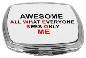 Rikki Knight Compact Mirror, Awesome is All What Everyone Sees Only Me, 150ml